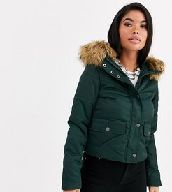 Mona quilted parka coat-Green