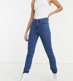 straight leg jeans in authentic dark blue