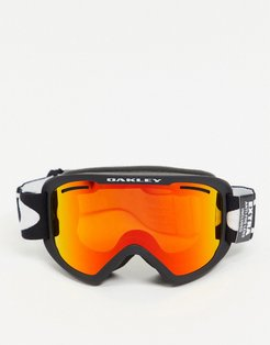 Frame 2.0 pro XL goggles in black with orange/yellow lens