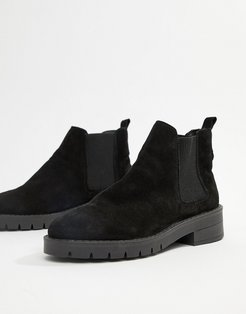 Amiee black suede ankle boot