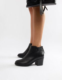 Heeled Ankle Boots-Black