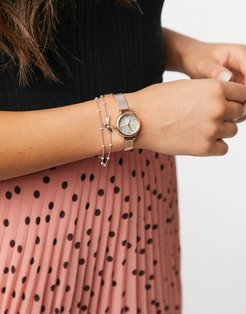 mini lucky bee watch and bracelet gift set-Gold