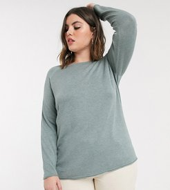 light weight sweater in green