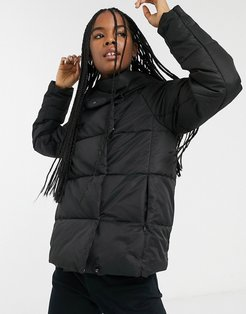 quilted padded jacket in black