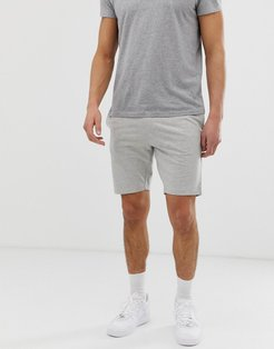drawstring jersey shorts in light gray melange