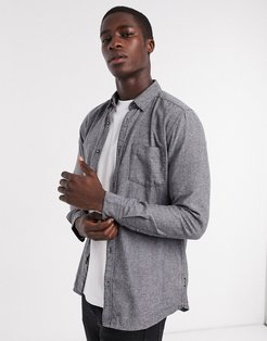 shirt in brushed gray