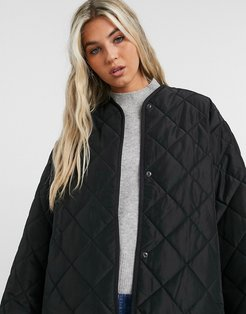 & Other Stories recycled polyester quilted jacket in black