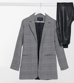 blazer in monochrome-Black