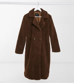 borg coat in brown