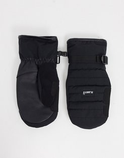 Bro-down insulated mittens in black