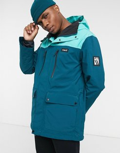 Good Times insulated jacket in ocean blue