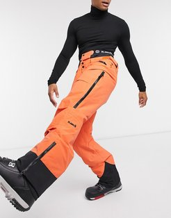 Tracker insulated pants in Lifeboat orange