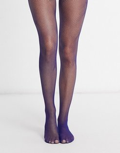 fishnet tights in blue-Blues