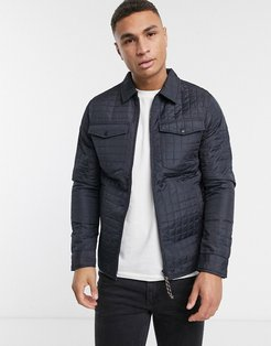 quilted jacket in navy