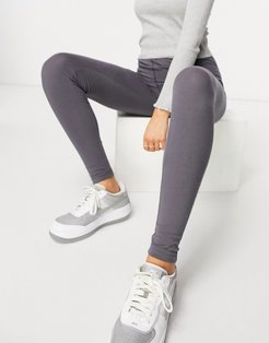 leggings with seam detail set in gray blue-Blues