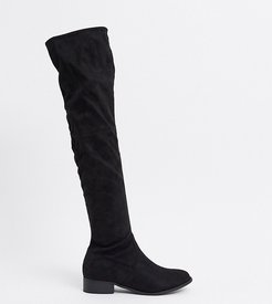 Exclusive Elle over the knee boots in black