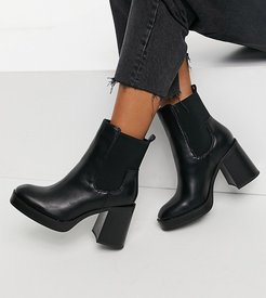 Klara chunky heeled ankle boots in black