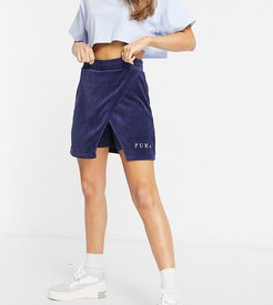 cord skirt in navy - exclusive to ASOS