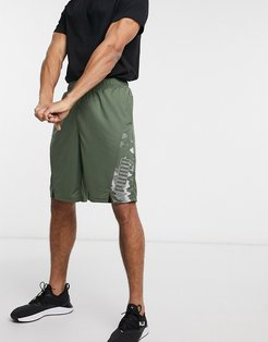 Training Collective Session knit 10inch short in khaki-Green