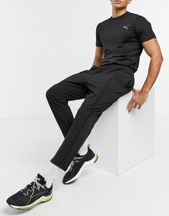 Training first Mile texture woven track pants in black