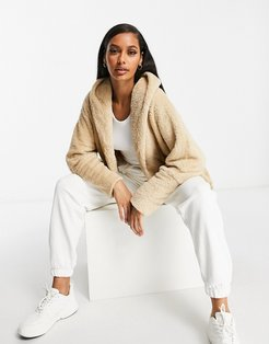 chuck on soft touch jacket in camel-Brown
