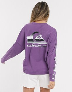 Boxy long sleeved t-shirt in purple