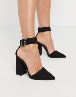 block heeled shoes in black