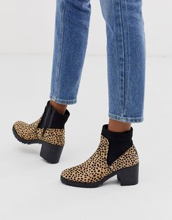 heeled boot in leopard-Multi