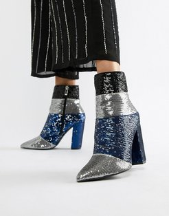 Sequin Ankle Boots-Multi