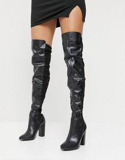 Courage over the knee boots in black