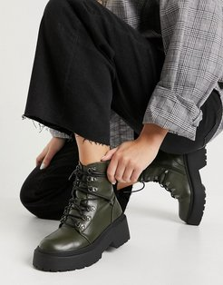 Jackson lace up boots in khaki-Green