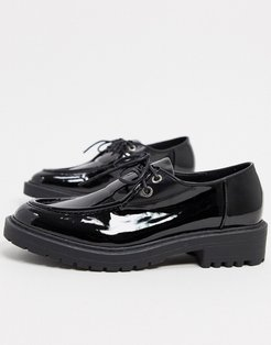Kenley lace up flat shoes in black