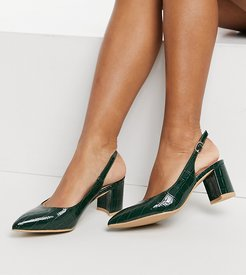 Rublina heeled shoes in green croc