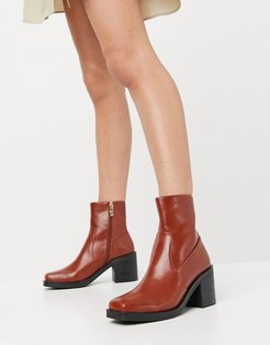 Zerrin heeled ankle boots in tan