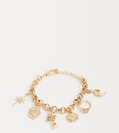 inspired bracelet with charms-Gold