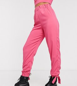 inspired pants with tie detail two-piece-Pink