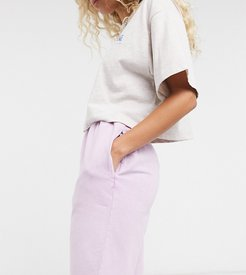inspired shorts in washed lilac-Purple