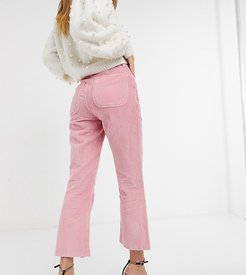Inspired the 85' crop kick flare in rose cord-Pink