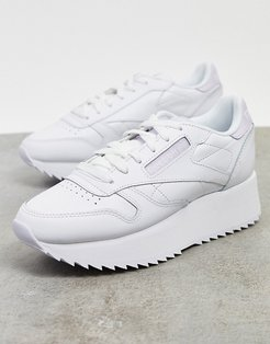 Classic Leather Double sneakers in white
