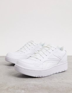 Court Double mix sneakers in white
