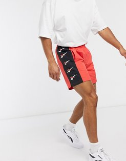 D Vector repeat shorts in radiant red