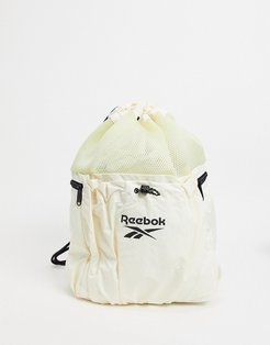 Summer Retreat backpack in pale yellow