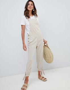 jumpsuit in sand-Brown
