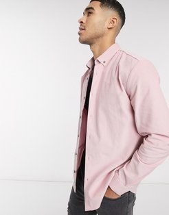 cord shirt in light pink