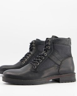 distressed boots in black
