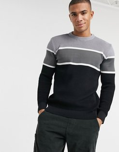 knitted sweater in gray-Grey