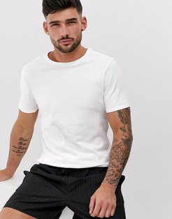 muscle fit crew neck t-shirt in white
