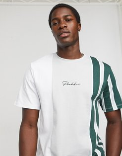 Prolific T-shirt with stripe panel-White
