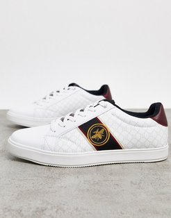 sneakers with wasp embroidery in white