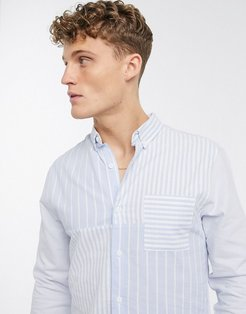 striped shirt in light blue